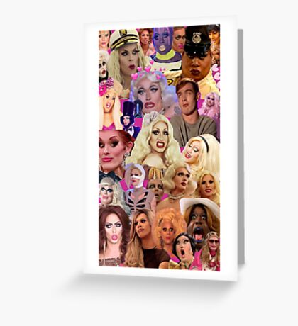 RuPaul Queens Collage Greeting Card