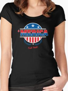 Merica2 Women's Fitted Scoop T-Shirt