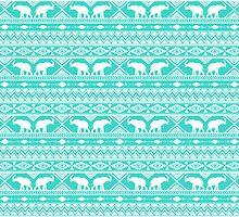 Elephant Tribal Mint by Jacqueline Maldonado