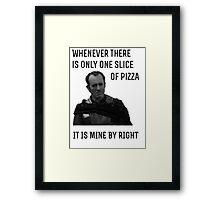 Stannis likes Pizza Framed Print