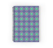 Mandala In Green And Blue - Tiled Spiral Notebook