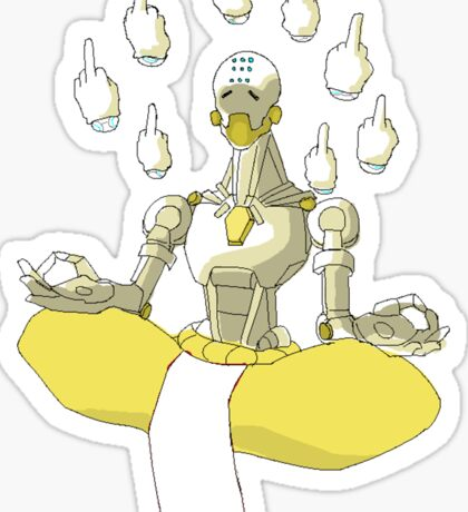 Zenyatta - To Hell with Tranquility Sticker