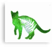 These Cats Are Green: Cat Standing Canvas Print