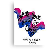bi pride Canvas Print