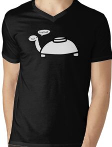 Mine Turtle Mens V-Neck T-Shirt