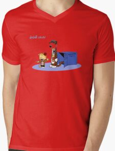 MR.calvin  Mens V-Neck T-Shirt