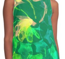 green blue and peach abstract Contrast Tank