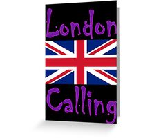London Calling - The T-Shirt, Clash Punk Classic Lyric Sticker Greeting Card