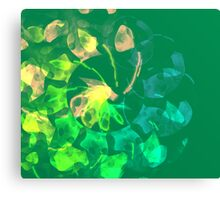 green blue and peach abstract Canvas Print