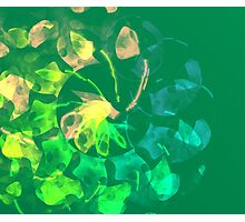 green blue and peach abstract Photographic Print