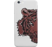 Red Abstract Tiger iPhone Case/Skin
