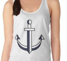 Sword anchor blue/white Women's Tank Top