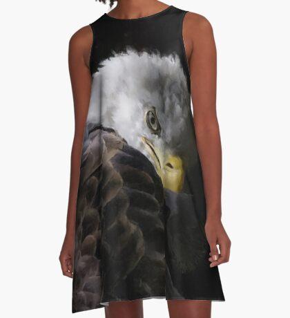 America Painted Eagle  A-Line Dress