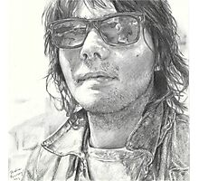 Gerard Way Graphite Drawing Photographic Print