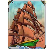 Three Sheets To The Wind (Sailing Ships and Beer) iPad Case/Skin