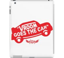 Vroom Goes the Car iPad Case/Skin