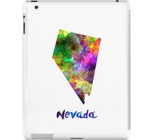 Nevada US state in watercolor iPad Case/Skin