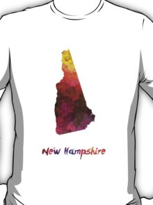 New Hampshire US state in watercolor T-Shirt