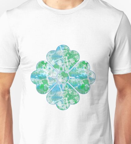 Abstract Paint Splatters Blues & Greens Unisex T-Shirt