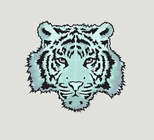Blue Watercolor Tiger Womens Fitted T-Shirt
