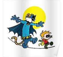 Dynamic Duo Calvin and Hobbes Poster