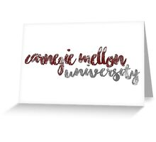 Carnegie Mellon University  Greeting Card