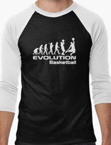Evolution of Basketball Sport Funny Men's Baseball ¾ T-Shirt