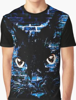 Ally Cat Black Graphic T-Shirt