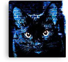 Ally Cat Black Canvas Print