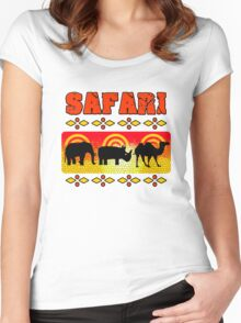 Safari Wild Life Hunt Women's Fitted Scoop T-Shirt