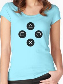 Funny Cool Gamers Controller Joystick Women's Fitted Scoop T-Shirt