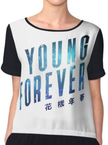 Young Forever - Blue Chiffon Top