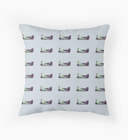 Fish out of water pale blue cushion Throw Pillow