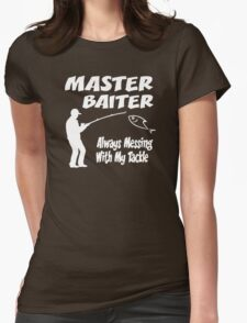 Master Baiter Funny Fishing Womens Fitted T-Shirt