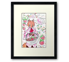 Red Pop Fox Illustration Framed Print