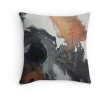 Mono Copper  Throw Pillow