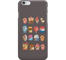 food drink collage pug life iPhone Case/Skin