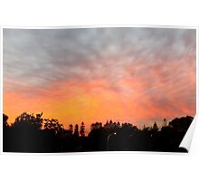 Fire in the Sky (panoramic) Poster