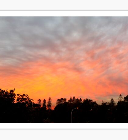 Fire in the Sky (panoramic) Sticker