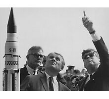 Von Braun and JFK Looking Towards The Sky  Photographic Print