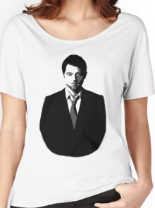 Misha Collins Black and White Cutout - Supernatural Castiel Women's Relaxed Fit T-Shirt