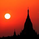 The red sky of Bagan by David McGilchrist