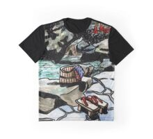 Japanese Hot Spring Graphic T-Shirt
