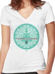 transcendence - Hero Women's Fitted V-Neck T-Shirt