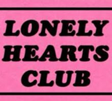 lonely Hearts Ticket Sticker