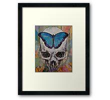 Butterfly Skull Framed Print