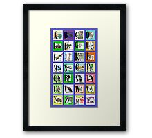 ABC World of Creatures Poster Framed Print
