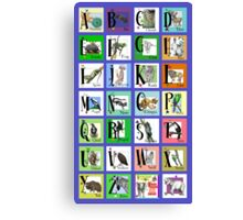ABC World of Creatures Poster Canvas Print