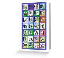 ABC World of Creatures Poster Greeting Card