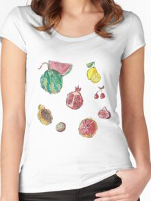 fruit party! Women's Fitted Scoop T-Shirt